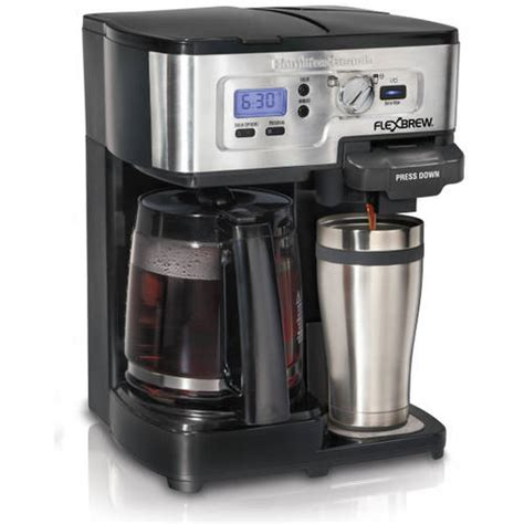 Hamilton Beach 12 Cup 2 Way FlexBrew Coffee Maker, 49983, Silver/Black   Walmart.com