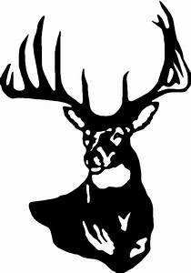 Deer Head Wall Decal 4 - Custom Wall Graphics - ClipArt ...