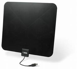 Solid signal flat indoor hdtv antenna black 30 miles for Apartment tv antenna