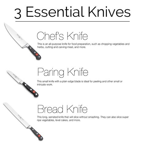 essential knives for the kitchen three must kitchen knives