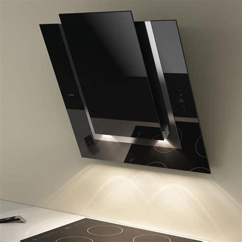hotte de cuisine noir elica hotte de cuisine décorative ico verre noir 80 cm