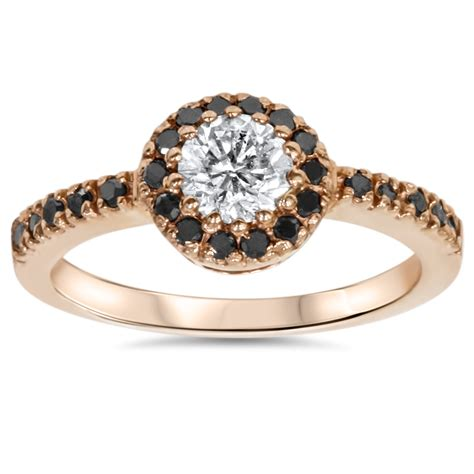 78ct Halo Diamond Ring 14k Rose Gold