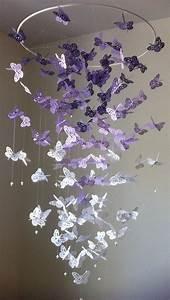 Schmetterlinge Basteln 3d : monarchfalter kronleuchter mobile 3d schmetterling thea bday ~ Orissabook.com Haus und Dekorationen