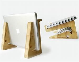 Support Puzzle en Bambou Multifonction pour MacBook