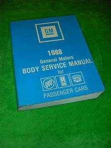 1988 General Motors Passenger Gm Cars Fisher Body Service