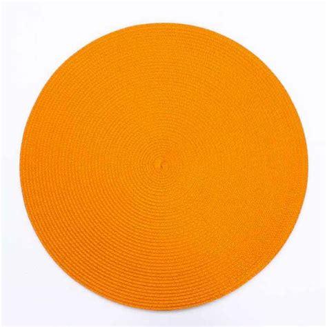 rideaux voilages cuisine set de table rond 38cm orange