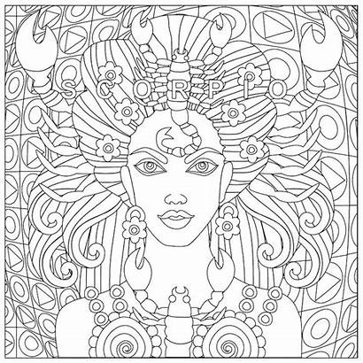 Coloring African Pages Adults Zodiac Adult Printable