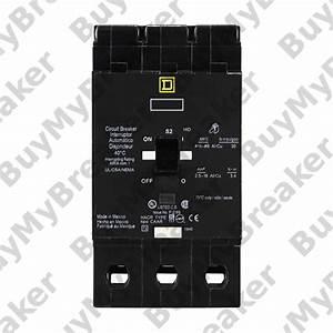 Square D Edb36110 3 Pole 110 Amp 600v Circuit Breaker