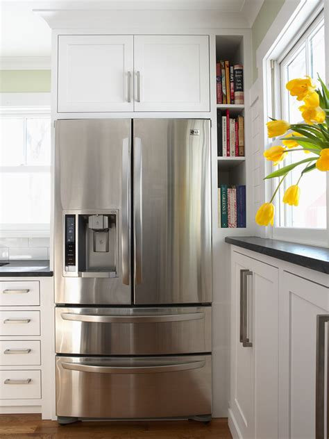 cabinets  refrigerator traditional kitchen