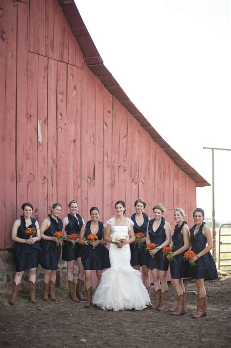 Barn Wedding Bridesmaid Dresses by Southern Weddings Southern Wedding Ideas Larsen