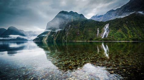 crystal clear water lake   zealand desktop wallpaper