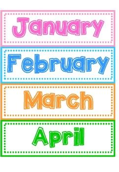 Months of the Year Flashcards by Nurizz Kamarudin | TpT
