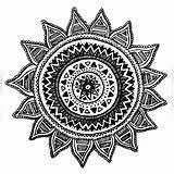Mandala Coloring Compass Drawing Tattoo sketch template