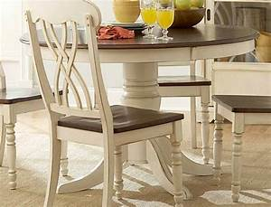 Ohana White Round Dining Room Set Casual Dinette Sets