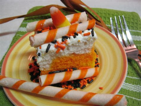 great time making  candy corn cake