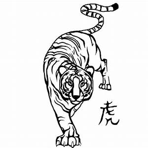 Tiger Outline Drawing - Coloring Home