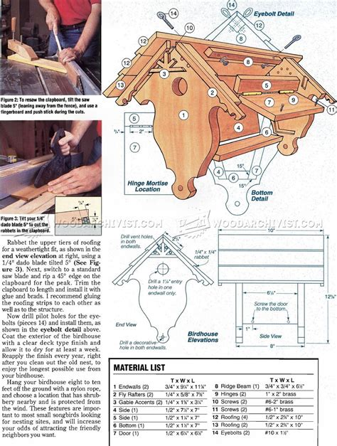 birdhouse plans woodarchivist