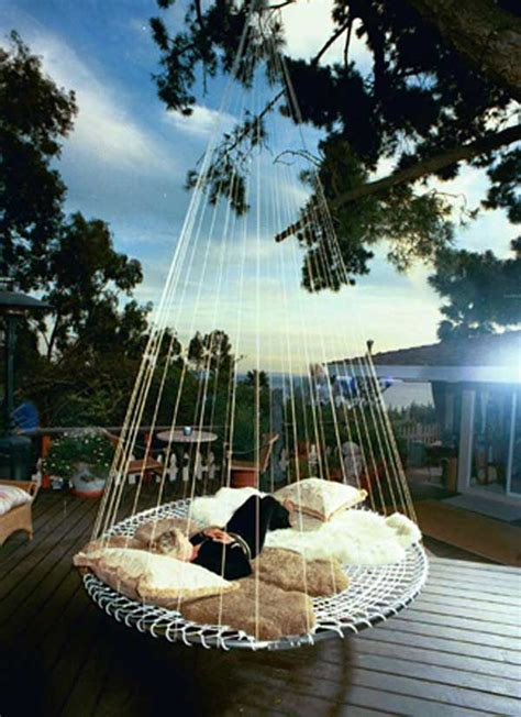 diy hanging outdoor bed 53 hanging beds to float in peace homesthetics