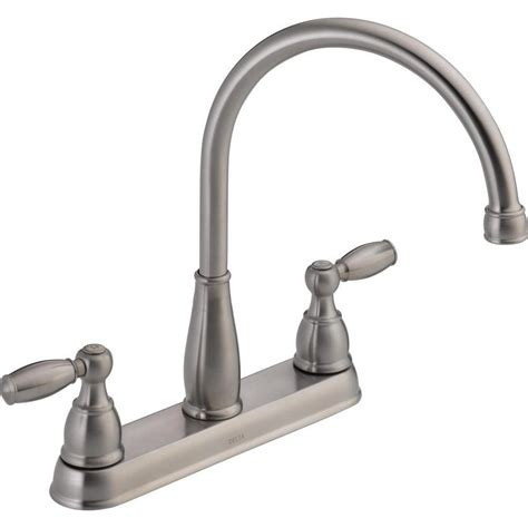 delta 2 handle kitchen faucet delta foundations 2 handle standard kitchen faucet in