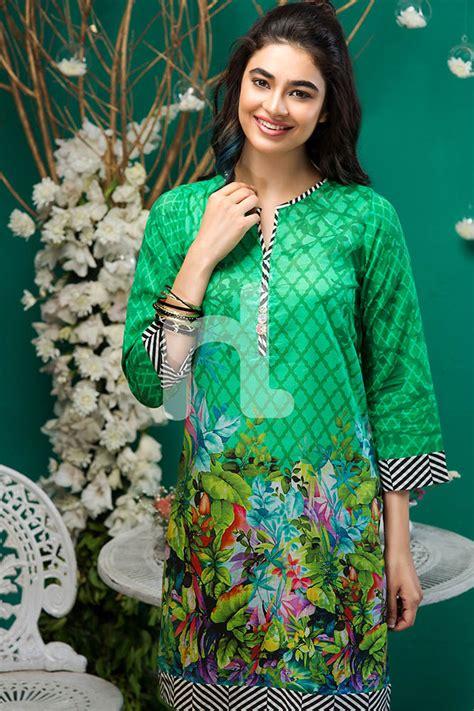 latest eid kurti tunics designs nl pret collection
