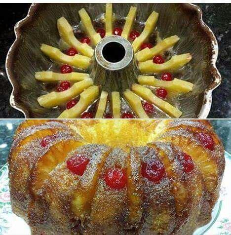 cool pineapple upside  cake   bundt pan dessert