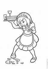Cameriere Colorare Disegni Waiters Coloring Camerieri Waitresses Kellner Kellnerinnen Camareras Camareros Colorear Flash Varityskuvia Tulosta Drucken Stampa Imprimir sketch template