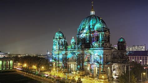 full hd wallpaper berlin night  cathedral desktop