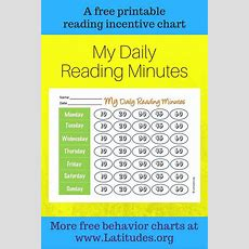 Free Reading Incentive Chart  My Daily Reading Minutes  Acn Latitudes