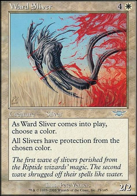 magic the gathering sliver deck legacy ward sliver lgn mtg card