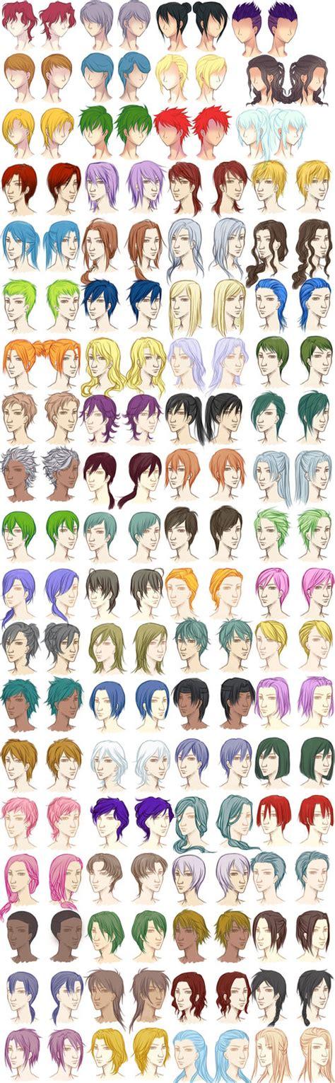 male hairstyle reference sheet  dawniechi  deviantart