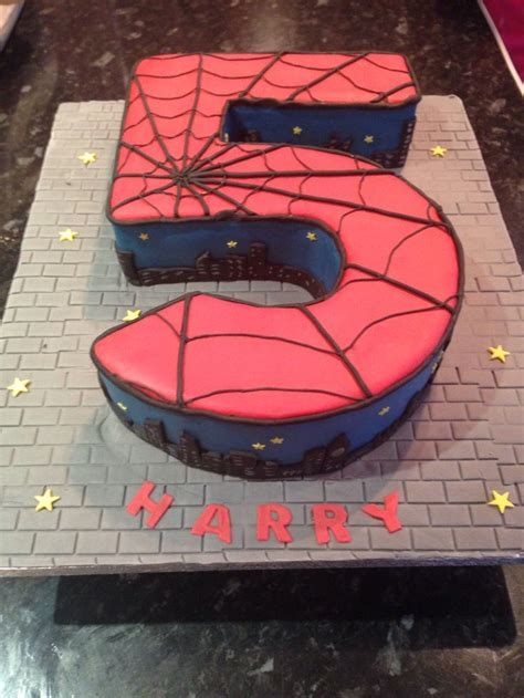 spider man cake    year  birthday gateau