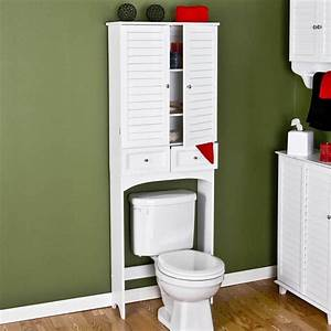 Bathroom storage cabinets over toilet home furniture design for 5 bathroom storage over toilet ideas