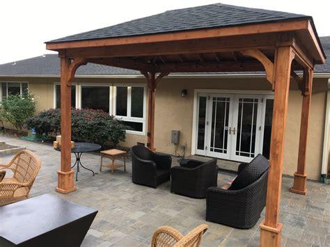 clear plastic drop buy cedar patio cover kits backyard pavilion kits