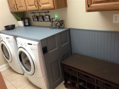 small laundry room redesign removed counter  laundry shoot  added  counter
