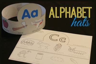 alphabet printable hats  homeschool