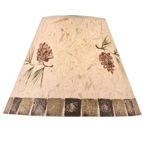 pine cone l shade stenciled pine cone l shade