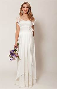 Juliette maternity wedding gown ivory maternity for Maternity dresses for wedding