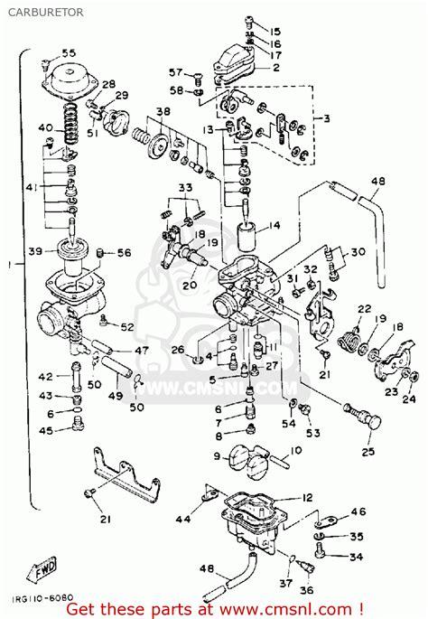 Ttr 50 Wiring Diagram by Yamaha Tt350 1986 G Usa Canada Carburetor Schematic