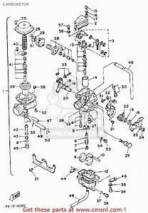 Yamaha Tt350 1986  G  Usa Canada Carburetor