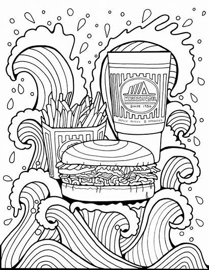 Coloring Burger Pages Whataburger Popular