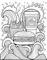 Burger Coloring Pages Whataburger Popular sketch template