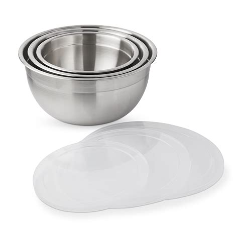williams sonoma stainless steel mixing bowls  lid set