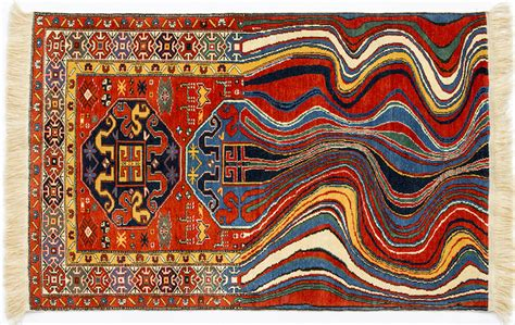 Traditional Rugs Recreated With Technological Glitches By