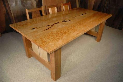 7' Custom Quilted Maple Dining Table: Dumond's Custom Furniture