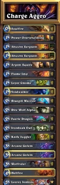 Aggro Decks Warlock, Hunter, And Rogue  The Op
