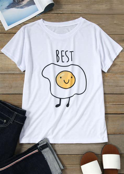 fried egg short sleeve  shirt fairyseason