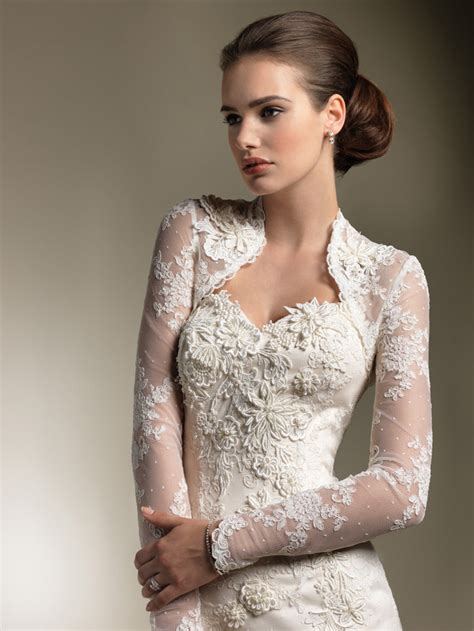 Wedding Dresses With Sleeves ? Elegant Lace Sweetheart