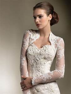 wedding dresses with sleeves elegant lace sweetheart With wedding dress long sleeve lace jacket