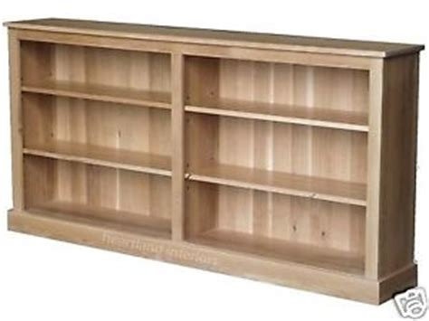Solid Oak Bookcase; 6ft Extra Wide Low Adjustable Display