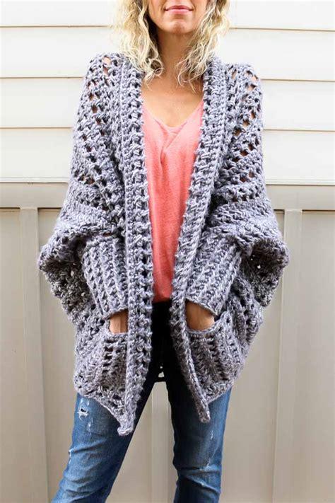 easy crochet sweater easy chunky crochet sweater free pattern from do